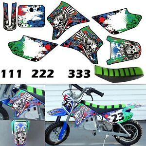 Burly Effects Graphics kit for Razor MX350 & MX400 dirt bike Stickers Seat Cover