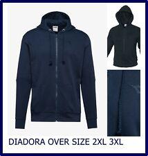 Diadora felpa da uomo con zip e cappuccio giacca di tuta felpe cotone XXL XXXL
