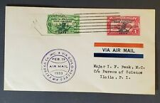 1933 Iloilo Philippine Islands Air Express Company First Flight Air Mail Cover