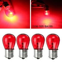4pcs/SET 1156 RED 12V 21W BA15S Car Light Bulb Brake Stop Signal Turn Tail Lamp