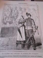 Caricature 1877 La Galerie des costumes de guerre des invalides
