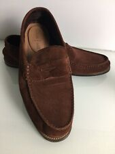 Clarks Classic Slip On Chestnut Brown Suede Loafers. Size 10.5G UK. Ex Condition