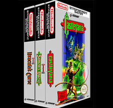 Castlevania 3 Pack 1 2 3 - NES Reproduction Art Case/Box No Game. Nintendo