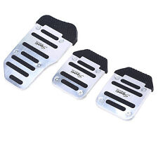 3pcs Manual Car Vehicle Non-slip Pad Pedal Aluminum Foot Treadle Cover UK stock