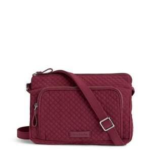 NWT Vera Bradley RFID Little Hipster Crossbody Bag Microfiber Hawthorn Rose $78