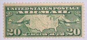 TRAVELSTAMPS: 1926-30 US Stamps Scott # C9 Map of U.S mint Original Gum Hinged