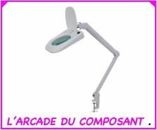 LAMPE LOUPE DE TABLE 5 DIOPTRIES AVEC ECLAIRAGE A LED Poids 4,400Kg