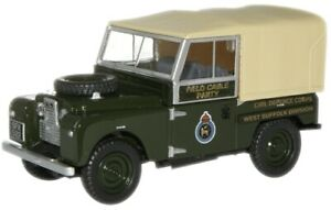 """OXFORD - LAND ROVER SERIES I 88"""" CANVAS TOP - CIVIL DEFENCE CORPS - 1:76 -"""