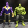 2PCS 6''Action Figure Marvel Avengers 3 Infinity War Movable Joints Thanos Hulk