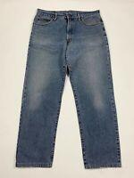 Wild jeans uomo usato W38 tg 52 vintage denim gamba dritta blu boyfriend T6313