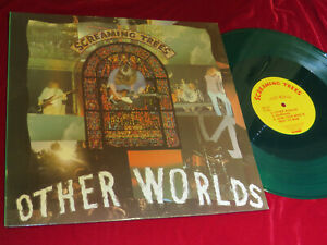 """Screaming Trees - Other Worlds    Green Translucent 12"""" EP Vinyl/Cover:ex 1988"""
