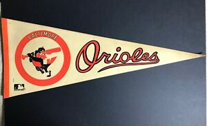 1970's Baltimore Orioles Vintage Baseball Pennant