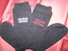2nd WEDDING PERSONALISED MENS SOCKS EMBROIDERED /ALL OCCASIONS GIFT