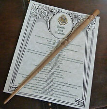 Handmade Teak Wood Magic Wand and List of Spells. Harry Potter