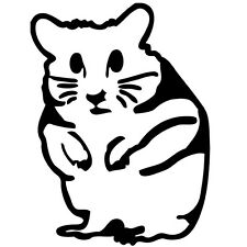 Hamster Vinyl Sticker Decal Inside Cute Funny - Choose Size & Color