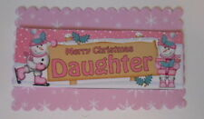 PACK 2  MERRY CHRISMAS DAUGHTER TOPPER EMBELLISHMENTS  FOR CARDS AND CRAFTS