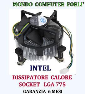 DISSIPATORE PROCESSORE SOCKET 775 LGA INTEL POWER COOLER  SILENT#77 DC12V- 0,20A