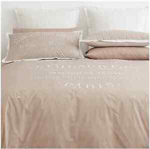 New Paris Maison Beige & Cream Quilt / Doona Cover Set - Double Bed