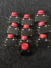 UNIMAX ADPDBB 15A LARGE BUTTON MOMENTARY SWITCH RED  2 POLE LOT 10PS