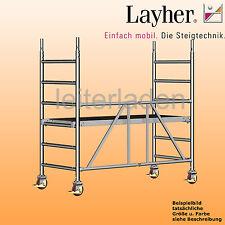 Layher Zifa 620 Rollgerüst Fahrgerüst Gerüst Alu, Arbeitshöhe= 2,86m, 0,75x1,80m