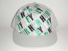 Hurley SQUARE FLATBILL Hat Grey S/M ($28) NEW Cap 210 Flex Skate Surf Ski One