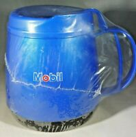 Mobil Gas Blue Thermo-Serv Travel Mug Dishwasher Safe Bottom Grip