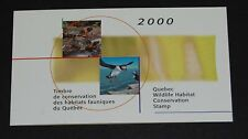 Quebec Wildlife Habitat Conservation Puffin/Turtle 2000 surcharge booklet #Qw13A