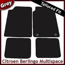 Citroen Berlingo Multispace Mk1 1996-2007 2-Clips Tailored Carpet Mats GREY