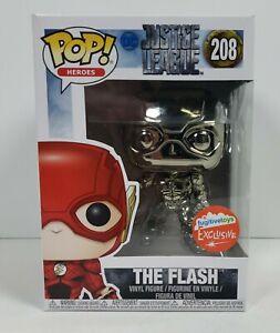 (DAMAGED BOX) Funko POP! The Flash (Black Chrome) #208 Exclusive Vinyl Figure