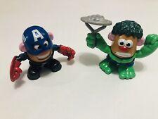 "Mini 3"" Mr Potato Head Marvel Avengers Mixable Heroes Hulk & Captain America"