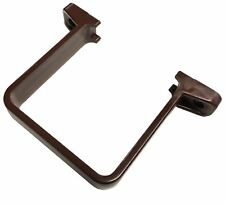 FLOPLAST 65mm Square Flush Down Pipe Clip - Brown