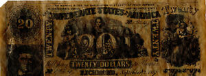 Reproduction Conferate Twenty Vintage Paper Money Fisher-Lowe Dodge W. Hartford