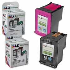 LD Remanufactured Replacement for HP 60XL HY Black & Color Ink Cartridges 2PK