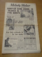 MELODY MAKER 1955 OCTOBER 8 LIONEL HAMPTON CRASH LOUIS ARMSTRONG EVE BOSWELL +