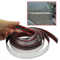 22mm * 3m Silver Chrome Self Adhesive Car Door Edge Styling Moulding Trim Strip