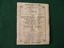 HORSE RACING- National Hunt Meeting, Cheltenham 1930  3rd Day