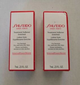 5 x Shiseido Treatment Softener Enriched 7ml each - For Normal, Dry, V Dry Skin
