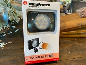 Manfrotto Lumimuse 8 On-Camera LED Light 5600K Color, Black #MLUMIEMU-BK NEW
