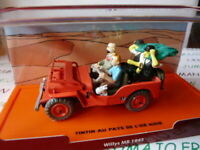 TIN1GVoiture 1/43 Collection TINTIN 2 base orange: Jeep Willys MB 1943 l'Or noir