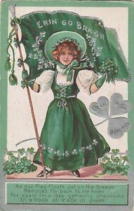 a irish life eire old postcard ireland erin go bragh st patricks day
