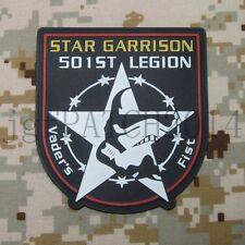 StarWars 501st Legion star garrison Vader's Fist 3D PVC Patch