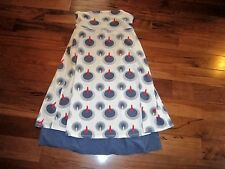 LULULEMON BEAT THE HEAT DRESS cool PRINT SIZE 6 REVERSIBLE great for 4th of july