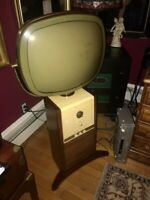 Philco predicta television , barber pole , Running !!  PICK UP ONLY ! 1950's TV