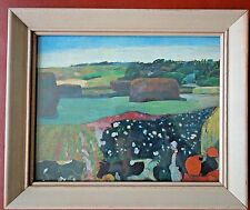 "Vintage Paul Gauguin Haystacks in Brittany 8""x10"" Framed Lithograph Art Print"