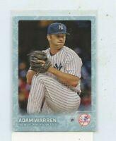 ADAM WARREN 2015 Topps Update Baseball SNOW CAMO BORDER #D /99 New York Yankees