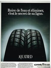 Publicité Advertising 1994 Pneus Aquatred par Goodyear