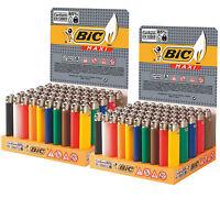 100 Accendini BIC MAXI grandi  J26 colorati pietrina - Scatola 2 Box Sigillati