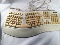 Vintage Microsoft Natural Computer Keyboard --- UNTESTED --- FOR PARTS
