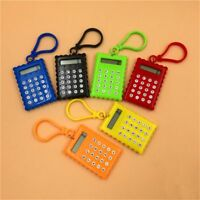 Portable Digital Cookies Shape Calculators Office Students Key Ring Random Color