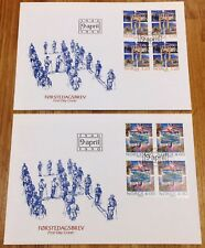 Norway Post FDC 1990.04.09. World War II Invasion 50th Anniv - Block of Four